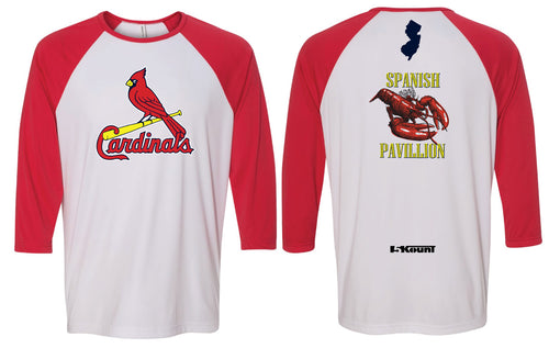 Cardinals Softballl 3/4 Sleeve Tee