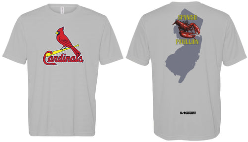 Cardinals Softball Dryfit Performance Tee - grey