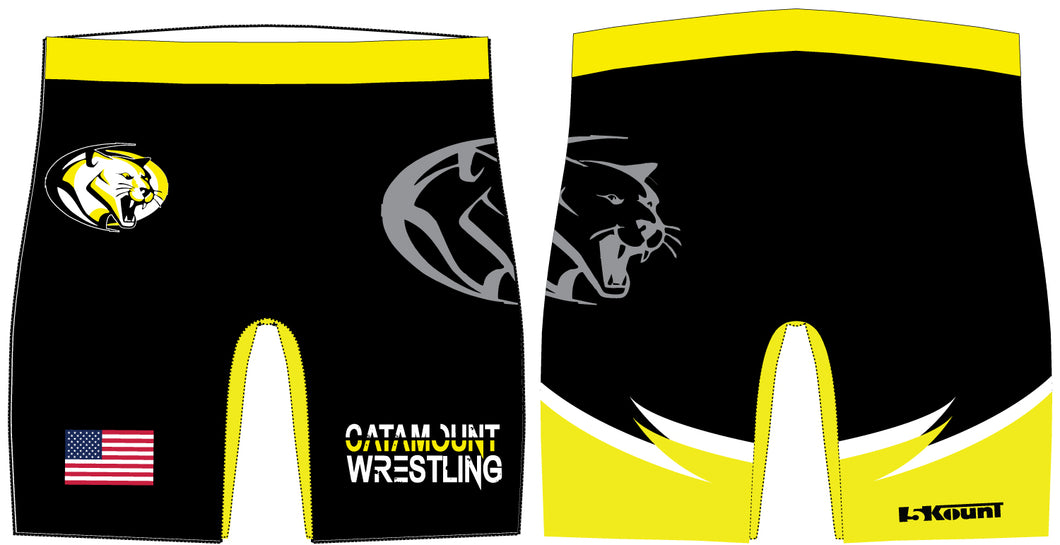 Catamount Wrestling Sublimated Compression Shorts - 5KounT