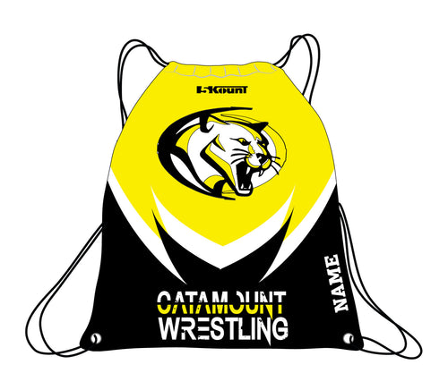 Catamount Wrestling Sublimated Drawstring Bag