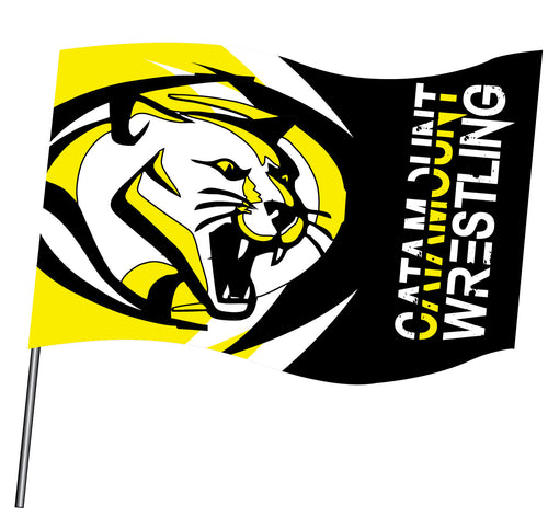 Catamount Wrestling Sublimated Flag
