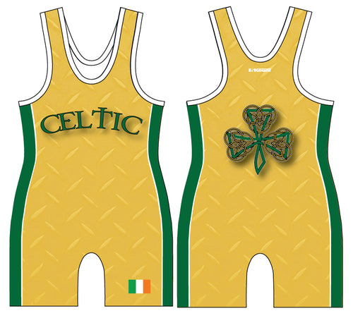 Celtic Wrestling Sublimated Singlet - Yellow/Green