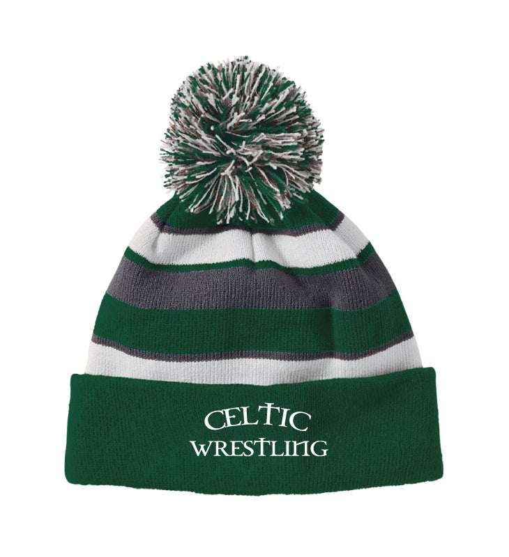 Celtic Wrestling Pom Beanie - Forest