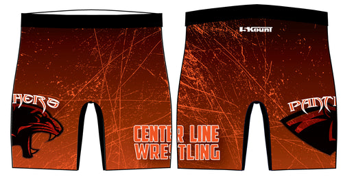 Centerline Panthers Wrestling Sublimated Compression Shorts