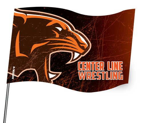 Centerline Panthers Wrestling Sublimated Flag