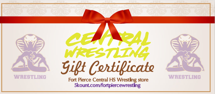 Fort Pierce Cobras Wrestling Gift Certificate - 5KounT2018