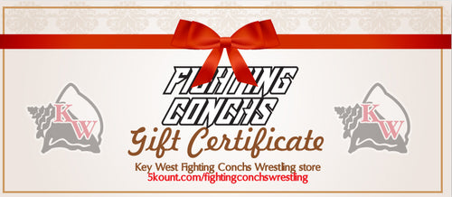 Key West Fighting Conchs Wrestling Gift Certificate