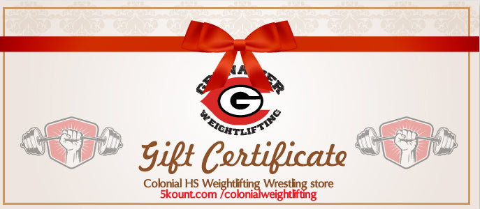 Colonial HS Weightlifting Gift Certificate