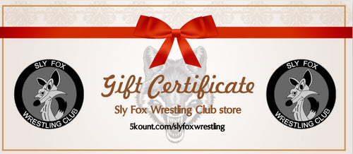 Sly Fox Wrestling Club Gift Certificate
