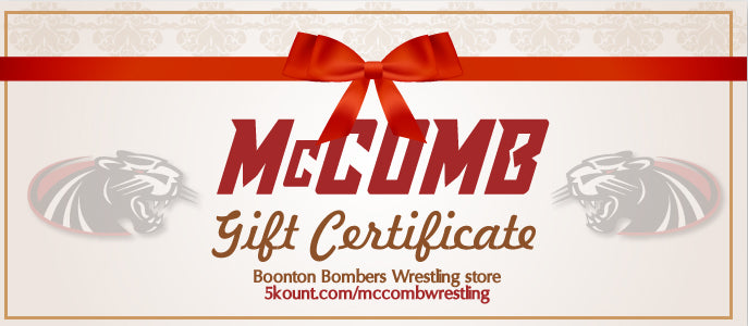 McComb Wrestling Panthers Gift Certificate - 5KounT2018