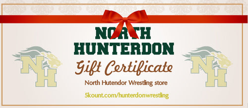 North Hunterdon Wrestling Gift Certificate