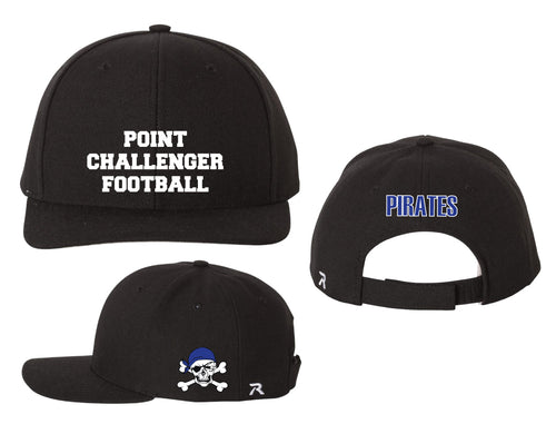 Challenger Football Adjustable Baseball Cap - Black - 5KounT