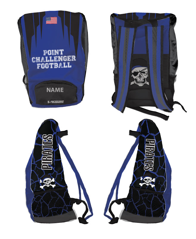Challenger Football Sublimated Backpack