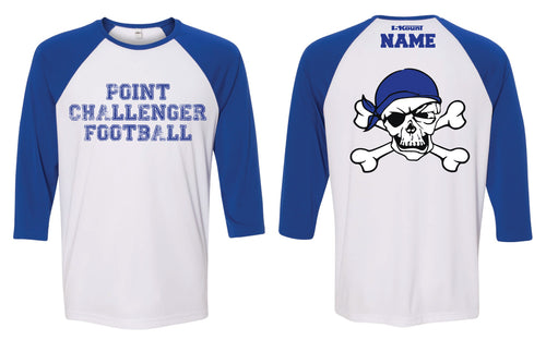 Challenger Football Baseball Shirt - Royal/White - 5KounT