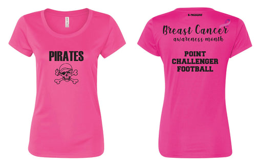 Challenger Football Women's DryFit Performance Tee - Sport Charity Pink - 5KounT