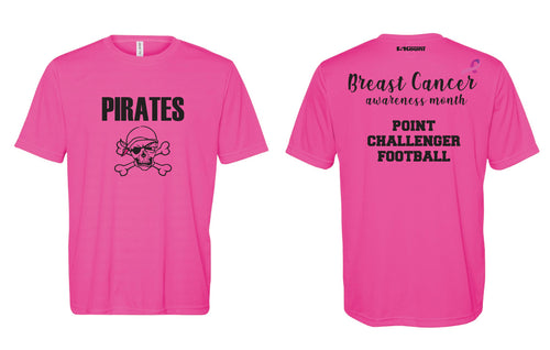 Challenger Football Men's DryFit Performance Tee -  Sport Charity Pink - 5KounT