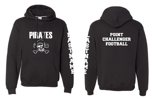 Challenger Football Russell Cotton Hoodie - Black - 5KounT