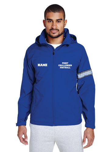 Challenger Football Men's and Women's All Season Hooded Jacket - Royal - 5KounT