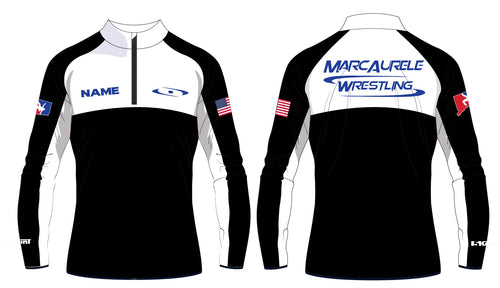 MarcAurele Sublimated Quarter Zip - Solid Royal and Solid Black