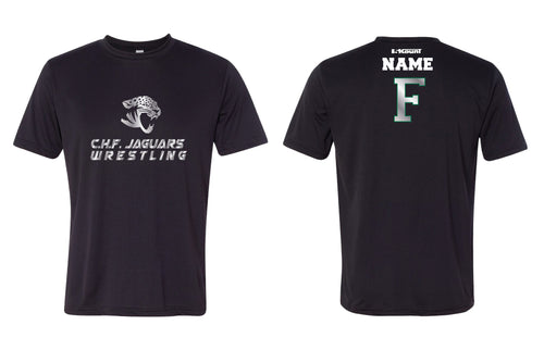 C.H.F. Jaguards Wrestling DryFit Performance Tee -Black