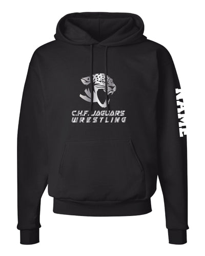 C.H.F. Jaguards Wrestling Cotton Hoodie - Black