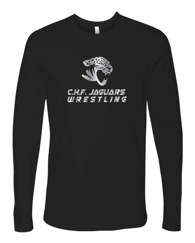 C.H.F. Jaguards Wrestling Long Sleeve Cotton Crew - Black