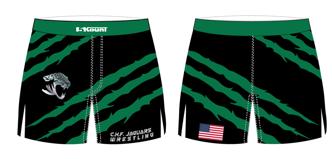 C.H.F. Jaguars Wrestling Sublimated Board Shorts - 5KounT2018