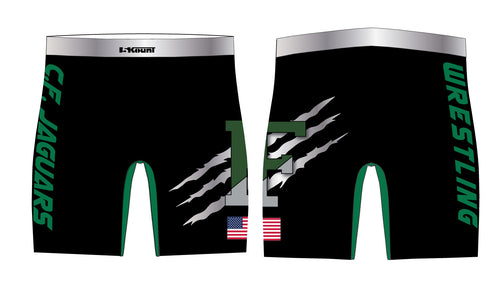 C.H.F. Jaguards Wrestling Sublimated Compression Shorts