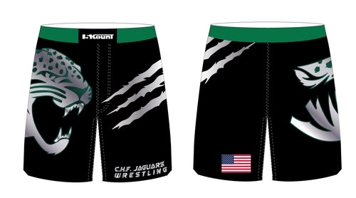 C.H.F. Jaguards Wrestling Sublimated Fight Shorts