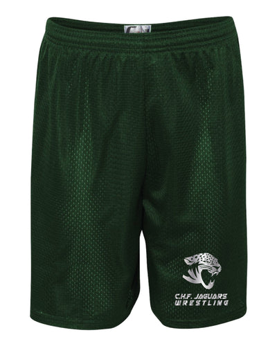 C.H.F. Jaguards Wrestling Tech Shorts - Forest