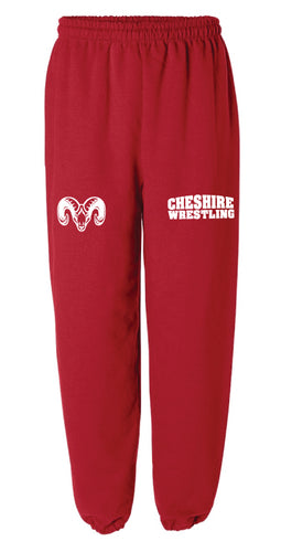 Cheshire Rams Cotton Sweatpants - Red - 5KounT