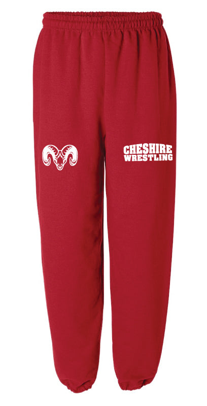Cheshire Rams Cotton Sweatpants - Red