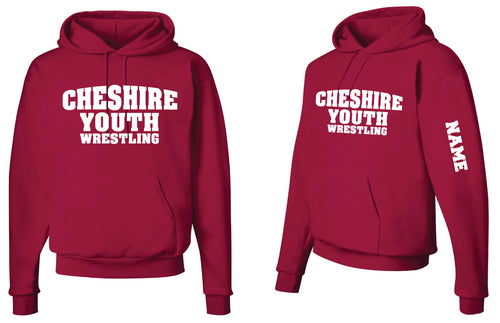 Cheshire Youth Cotton Hoodie - Red