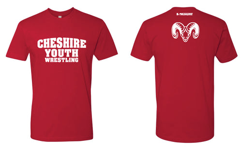 Cheshire Youth Cotton Crew Tee - Red