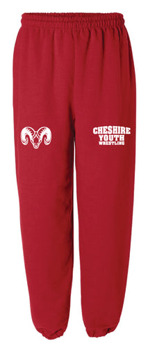 Cheshire Youth Cotton Sweatpants - Red - 5KounT2018