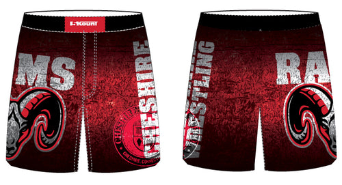 Cheshire Rams Sublimated Fight Shorts - 5KounT