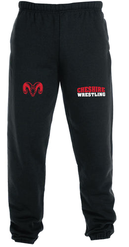 Cheshire Rams Cotton Sweatpants - Black - 5KounT
