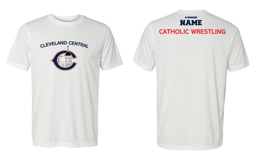 Cleveland Central Catholic Wrestling DryFit Performance Tee - Navy / White