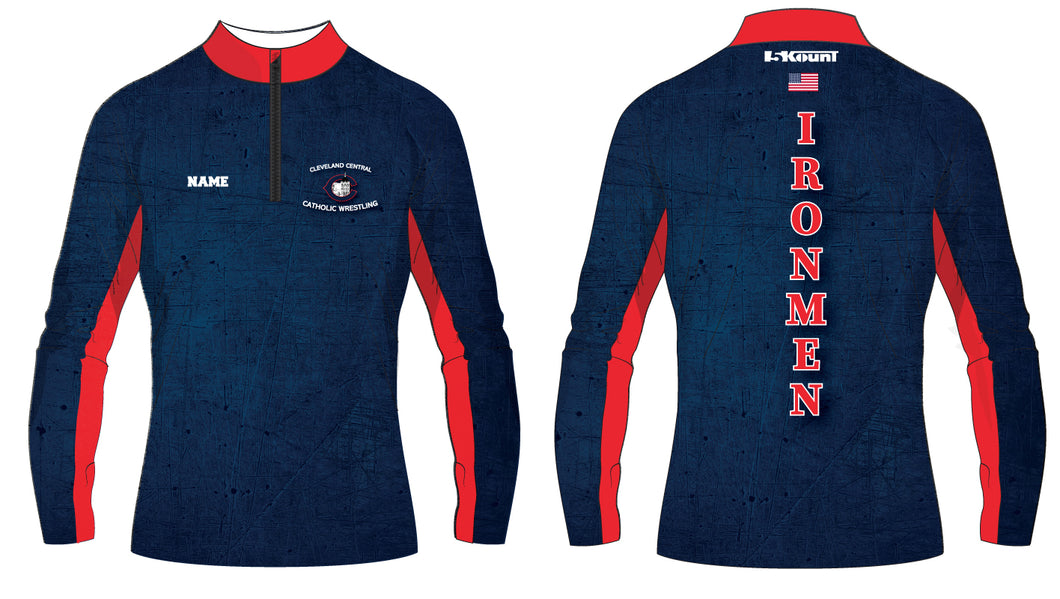 Cleveland Central Catholic Wrestling Sublimated Quarter Zip - 5KounT