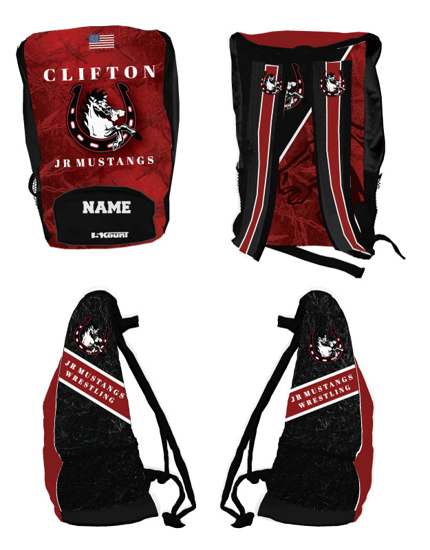 Clifton Jr. Wrestling Sublimated Backpack