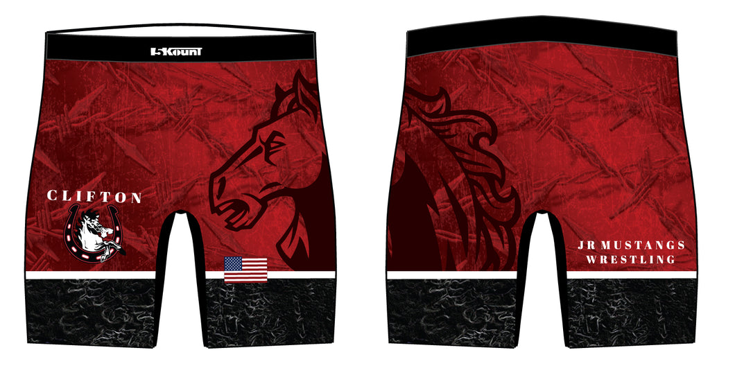 Clifton Jr. Wrestling Sublimated Compression Shorts - 5KounT2018