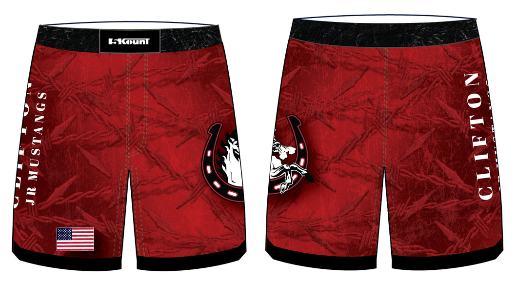 Clifton Jr. Wrestling Sublimated Fight Shorts