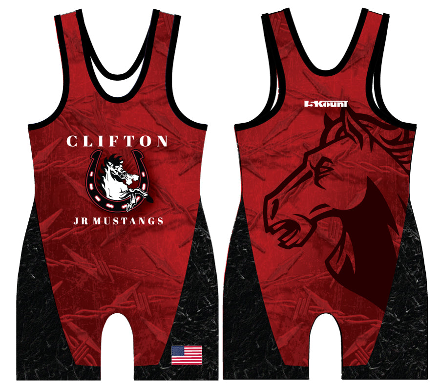 Clifton Jr. Wrestling Sublimated Singlet