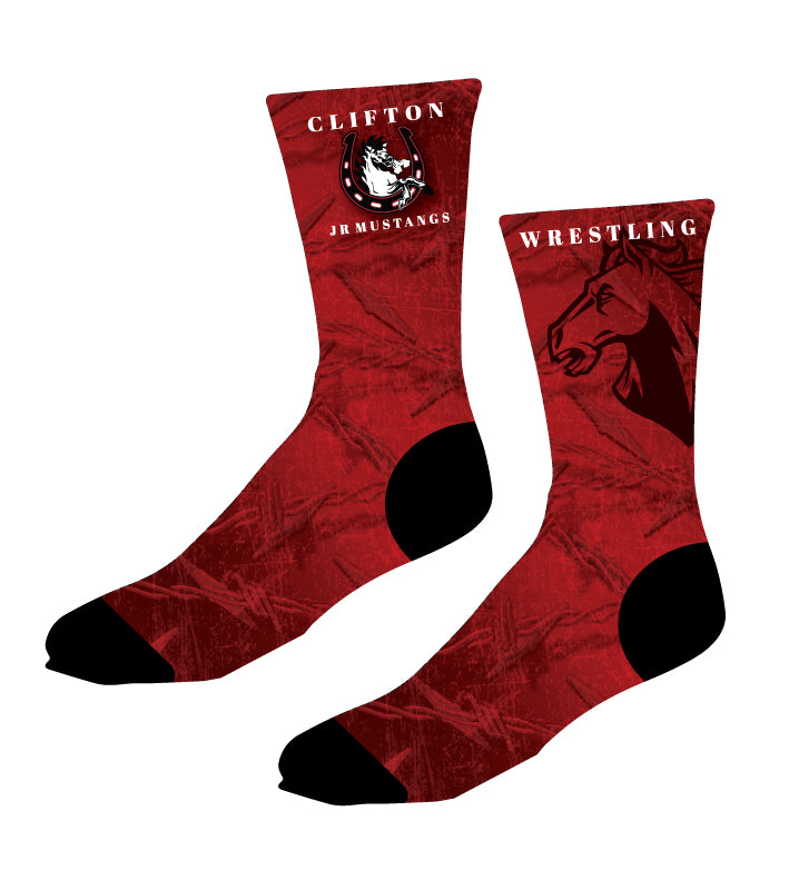 Clifton Jr. Wrestling Sublimated Socks - 5KounT2018