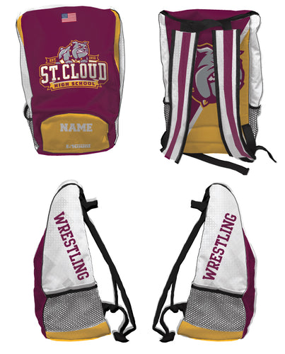 St. Cloud HS Wrestling Sublimated Backpack