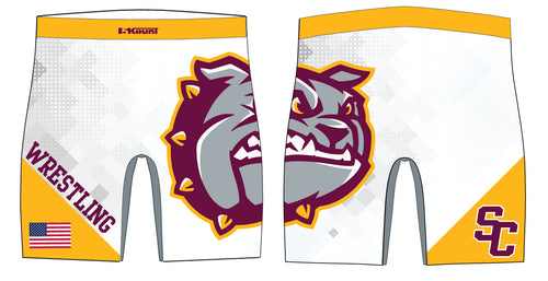 St. Cloud HS Wrestling Sublimated Compression Shorts