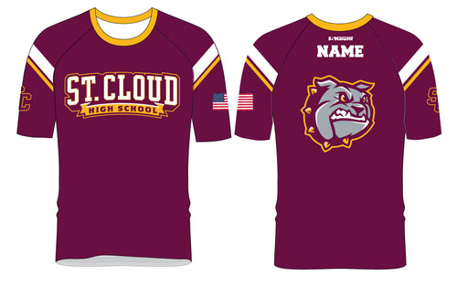 St. Cloud HS Wrestling Sublimated Fight Shirt - Maroon - 5KounT