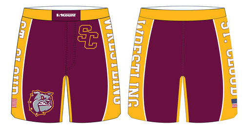 St. Cloud HS Wrestling Sublimated Fight Shorts