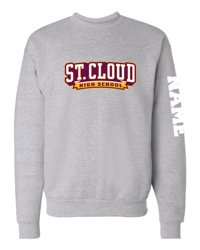 St. Cloud HS Wrestling Crewneck Sweatshirt - Black