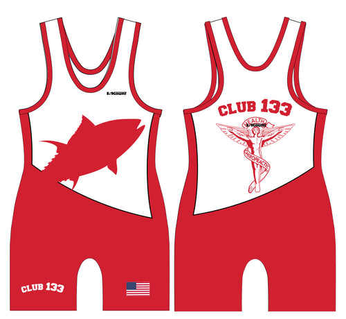 Club 133 Sublimated Men's Singlet - Red